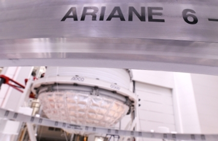 Le lanceur Ariane 6, en cours de construction par ArianeGroup.